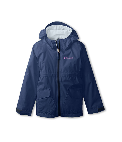 Columbia Kids - Trail Trooper Rain Jacket (Little Kids/Big Kids) (Collegiate Navy) Girl