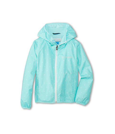 Columbia Kids - Pixel Grabber II Wind Jacket (Little Kids/Big Kids) (Candy Mint Print/Candy Mint) Girl's Coat