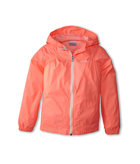 Columbia Kids - Switchback Rain Jacket (Little Kids/Big Kids) (Coral Glow/White) Girl