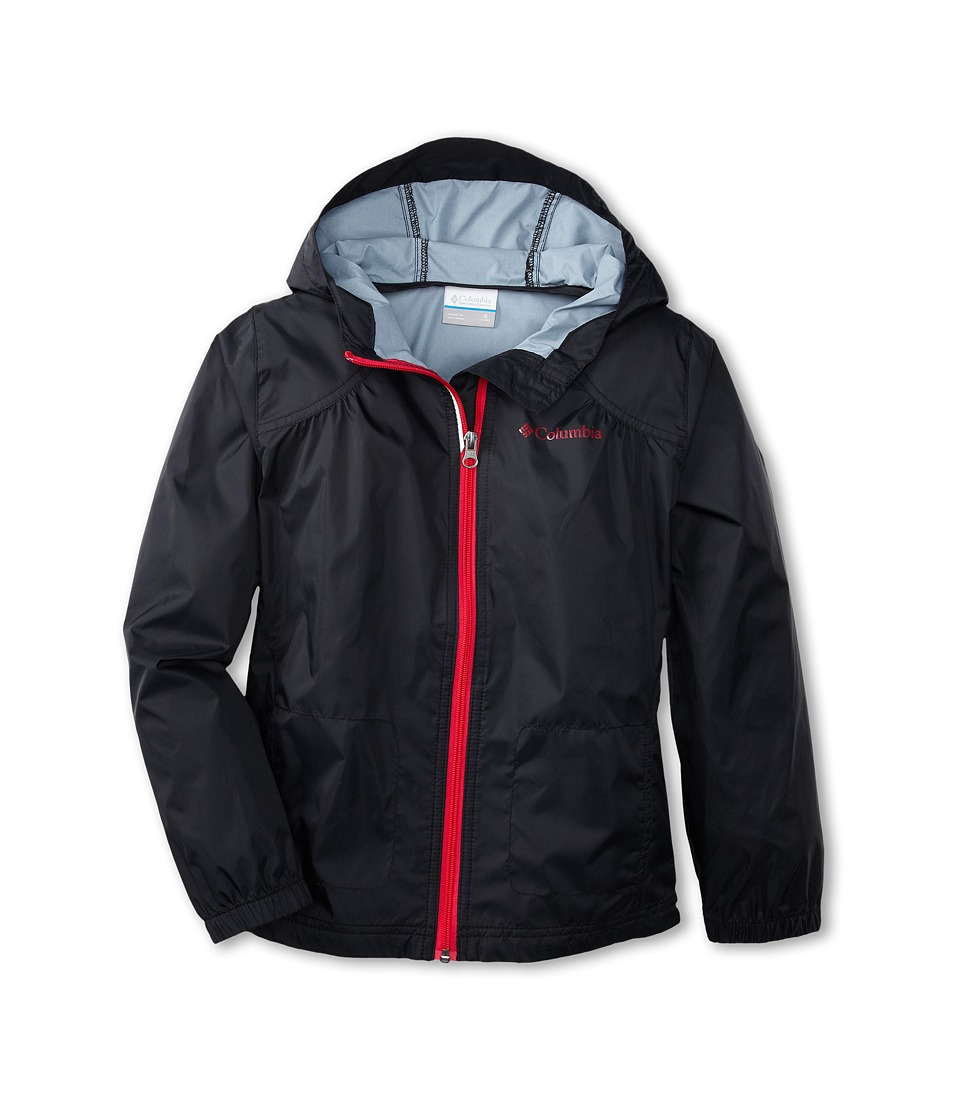 Columbia Kids - Switchback Rain Jacket (Little Kids/Big Kids) (Black/Bright Rose) Girl's Jacket
