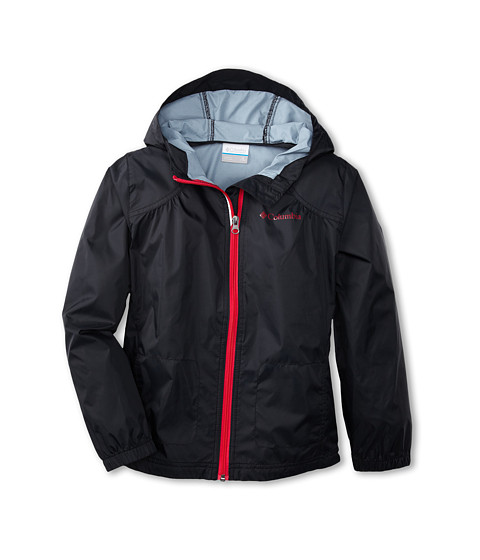 Columbia Kids - Switchback Rain Jacket (Little Kids/Big Kids) (Black/Bright Rose) Girl