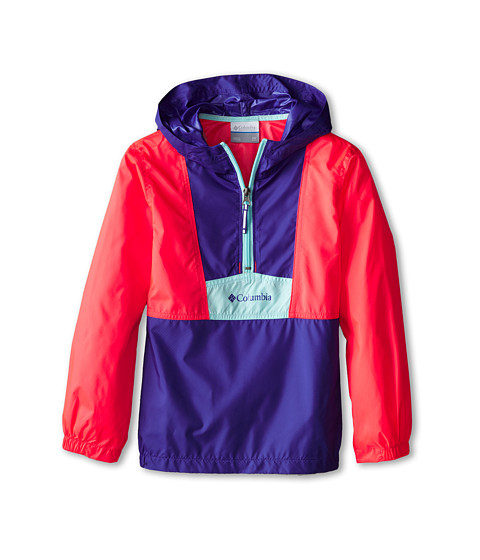 Columbia Kids - Flashback Windbreaker (Little Kids/Big Kids) (Light Grape/Laser Red/Candy Mint) Girl