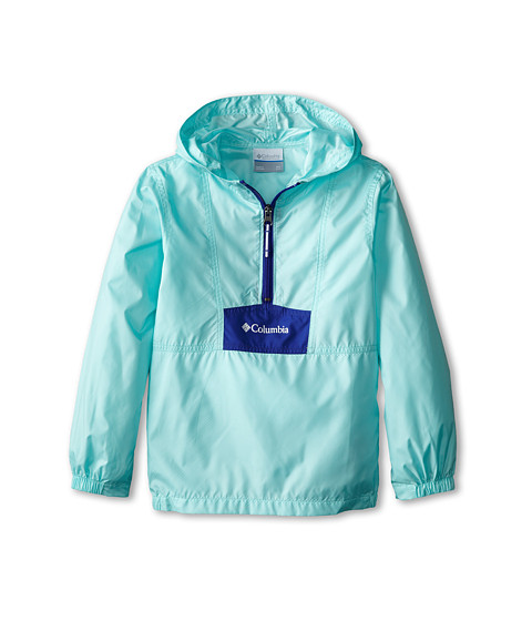Columbia Kids - Flashback Windbreaker (Little Kids/Big Kids) (Candy Mint/Light Grape/White) Girl