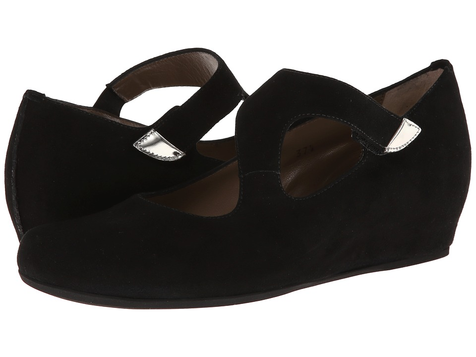 Anyi Lu - Shirlee (Black Suede) Women's Wedge Shoes