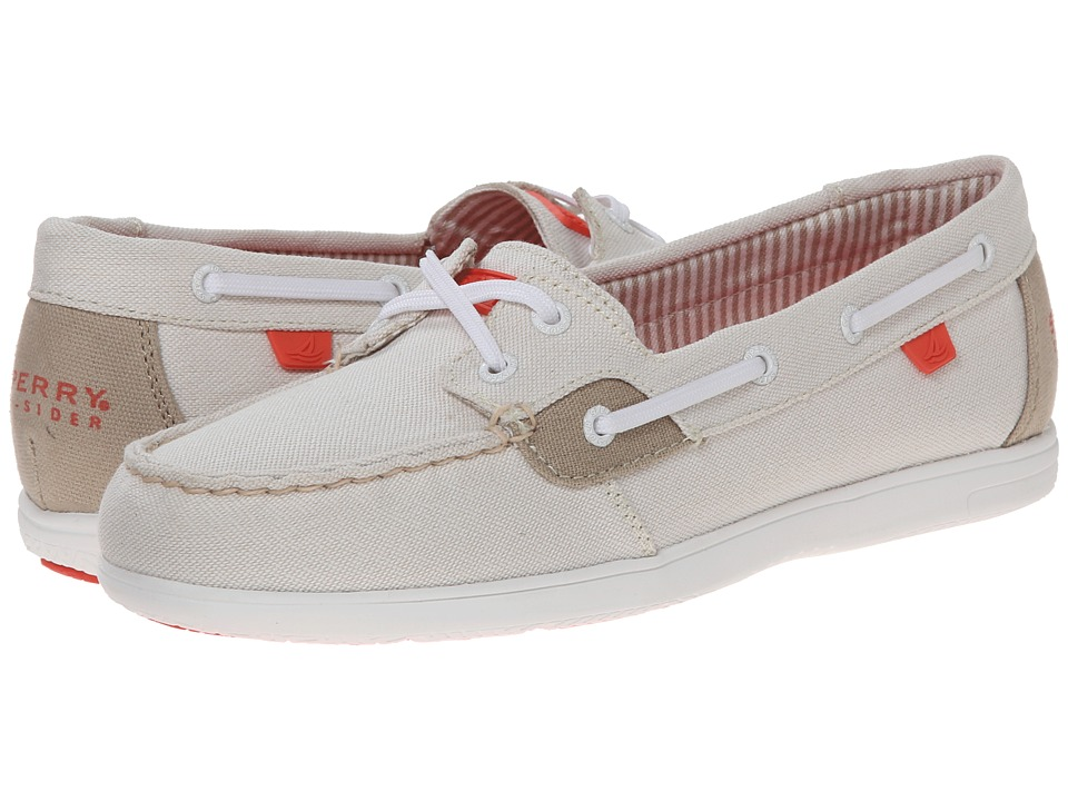 Sperry - Sea-Sider Neon Canvas (Ivory) Women's Shoes