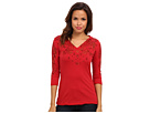 Seven7 Jeans - 3/4 Sleeve Hoodie (Red) - Apparel