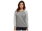 Seven7 Jeans - Studded Raglan Sweatshirt Snowflake (Charcoal Heather Grey) - Apparel