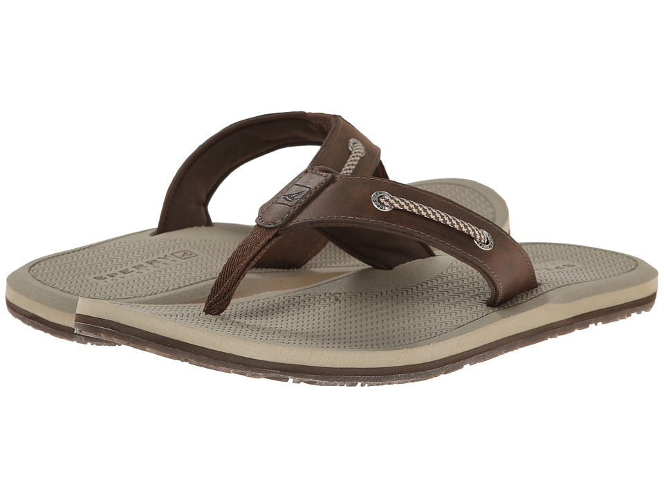 Sperry - Pensacola Thong (Brown) Men's Shoes