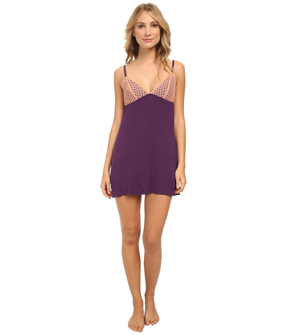 BCBGeneration - Chloe The Call Me Chemise (Purple Pennant) Women's Pajama