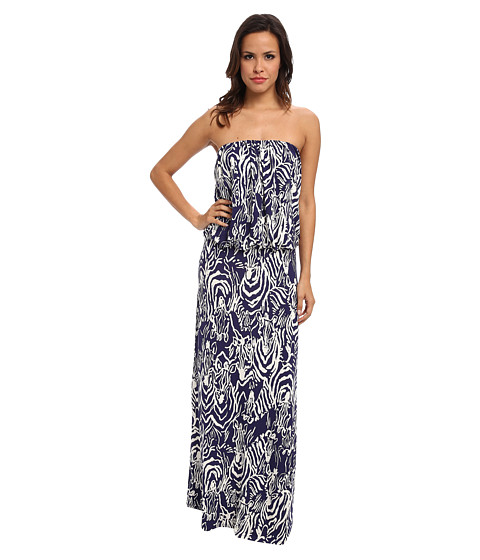 Lilly Pulitzer - Morada Maxi Dress (Bright Navy Entourage) Women's Dress