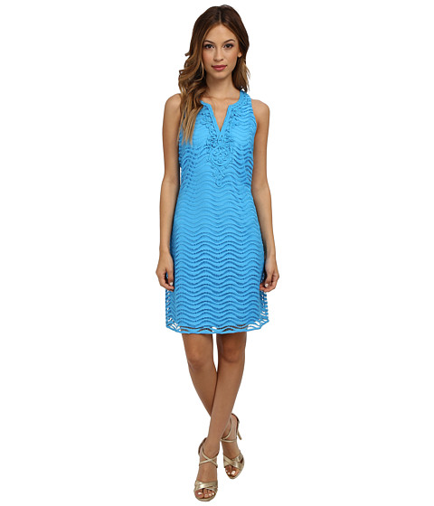 Lilly Pulitzer - Margate Lace Shift Dress (Ariel Blue Wavey Knit Lace) Women