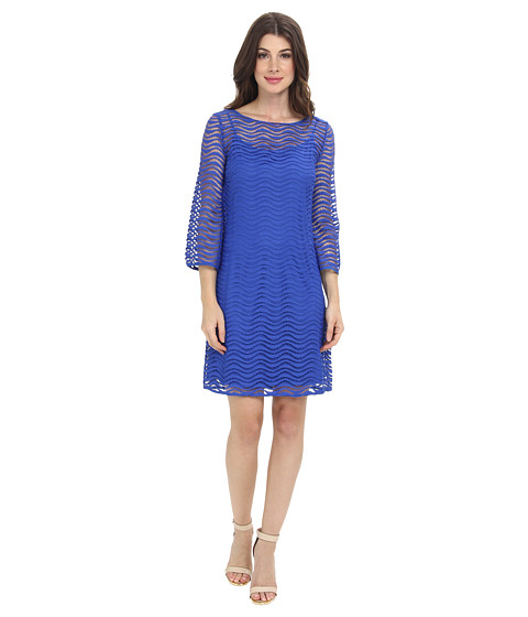 Lilly Pulitzer - Topanga Lace Tunic Dress (Sapphire Blue Wavey Knit Lace) Women's Dress