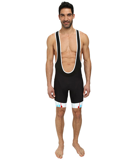 Pearl Izumi - P.R.O. In-R-Cool Bib Short (Black/Blue Atoll) Men
