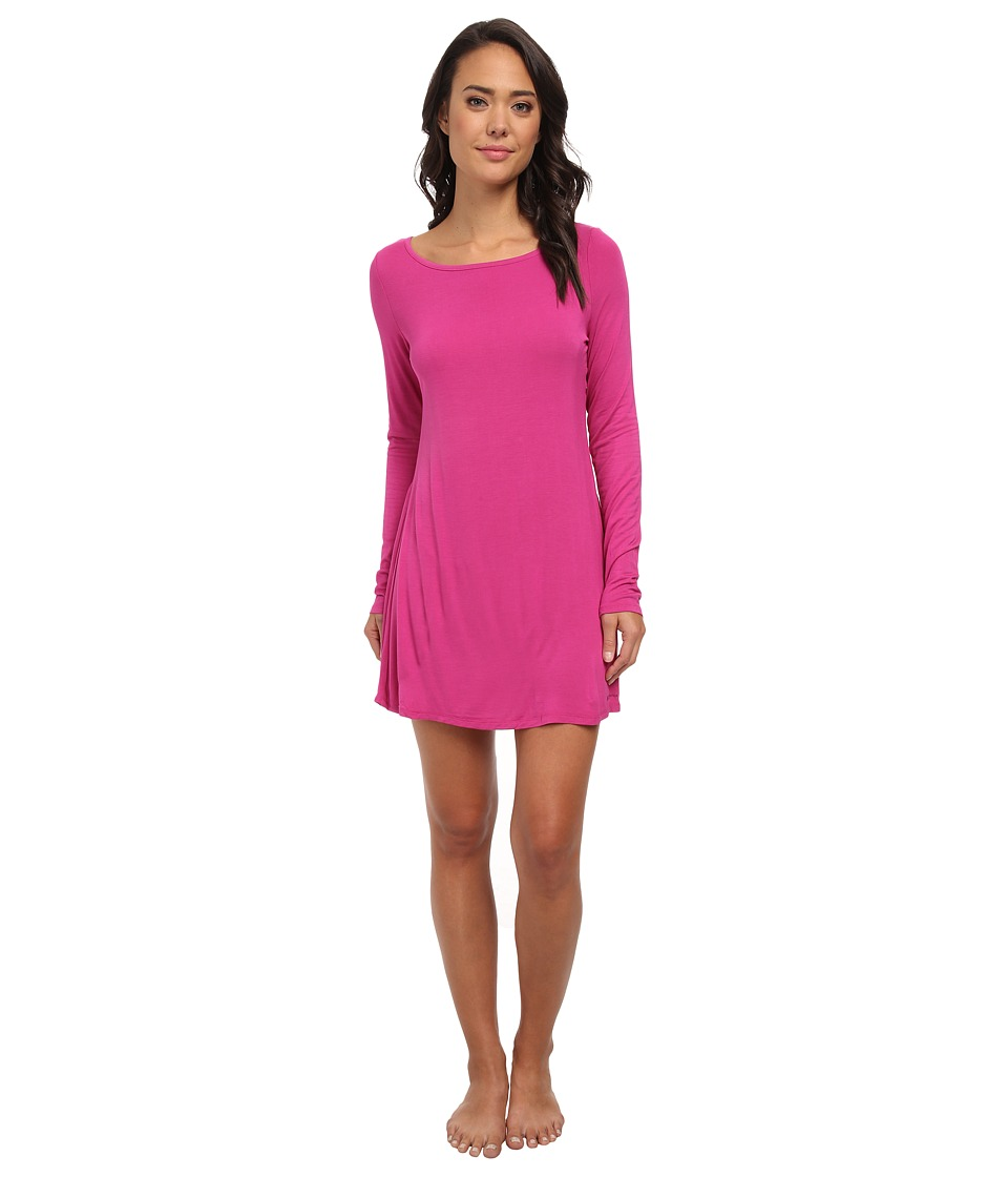 BCBGeneration - Chelsea Long Sleeve Babydoll (Raspberry) Women