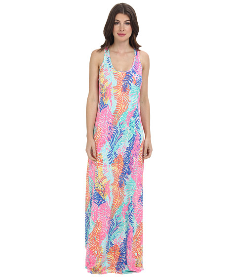 Lilly Pulitzer Betty Racerback Maxi Dress (Cameo White Electric Feel) Women's Dress