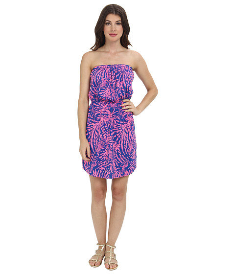 Lilly Pulitzer - Windsor Strapless Pull-On Dress (Sapphire Blue Rollin In The Grass) Women's Dress