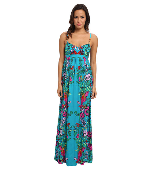 Lilly Pulitzer - Joanna Maxi Dress (Multi Shake Your Tailfeather Engineered) Women's Dress