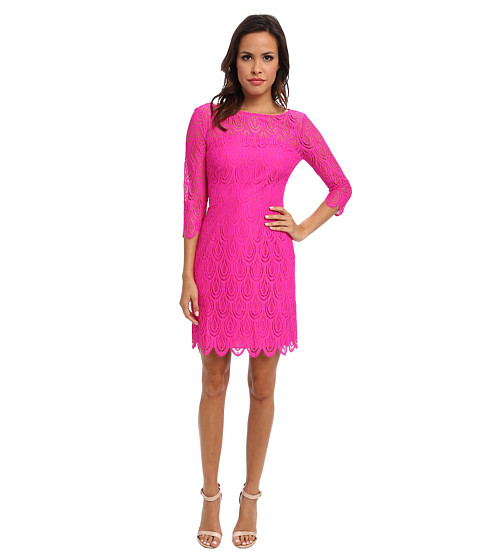 Lilly Pulitzer - Hera Dress (Magenta Two Tone Feather Lace) Women