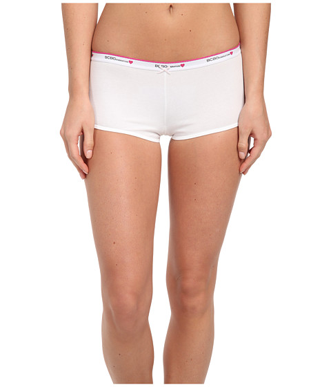 BCBGeneration - Claudia The Be Right Boyshort (White) Women's Underwear