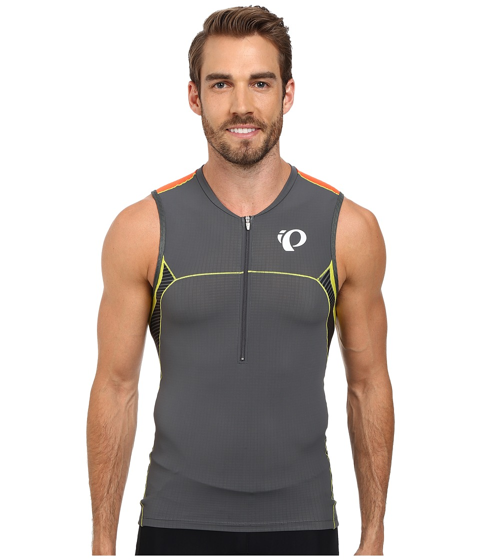 Pearl Izumi - ELITE In-R-Cool Tri S/L Jersey (Shadow Grey/Manadrin Red) Men's Sleeveless