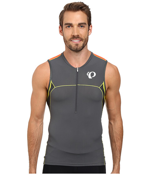 Pearl Izumi - ELITE In-R-Cool Tri S/L Jersey (Shadow Grey/Manadrin Red) Men