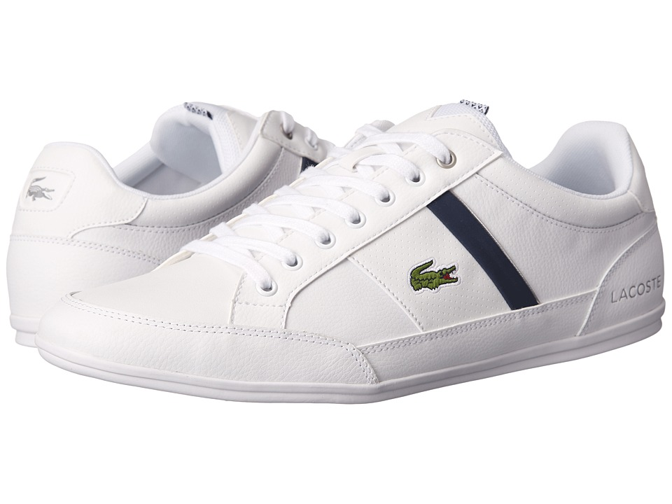 Lacoste - Chaymon CR (White/Dark Blue) Men