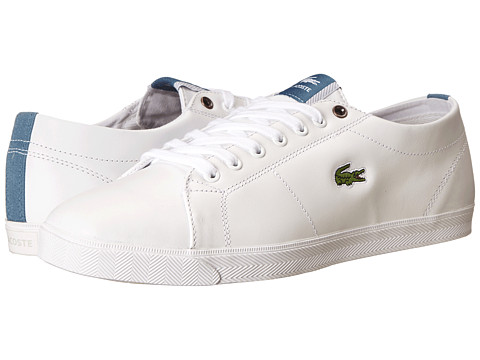 Lacoste - Marcel CSU (White/Light Blue) Men