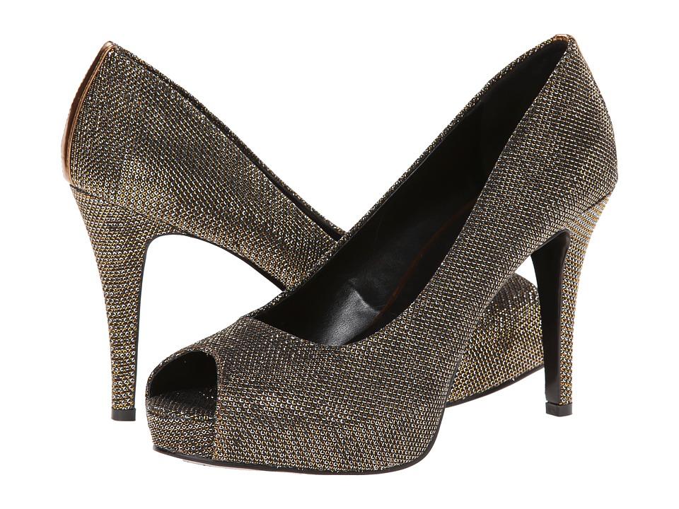 Nine West - Camya (Gold Multi Fabric 1) High Heels