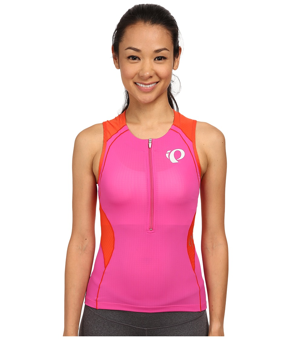 Pearl Izumi - W ELITE In-R-Cool Tri S/L Jersey (Hot Pink) Women's Sleeveless