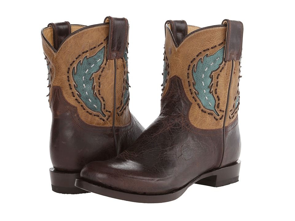 Stetson - Cutout Round Toe Ankle Boot (Brown) Cowboy Boots