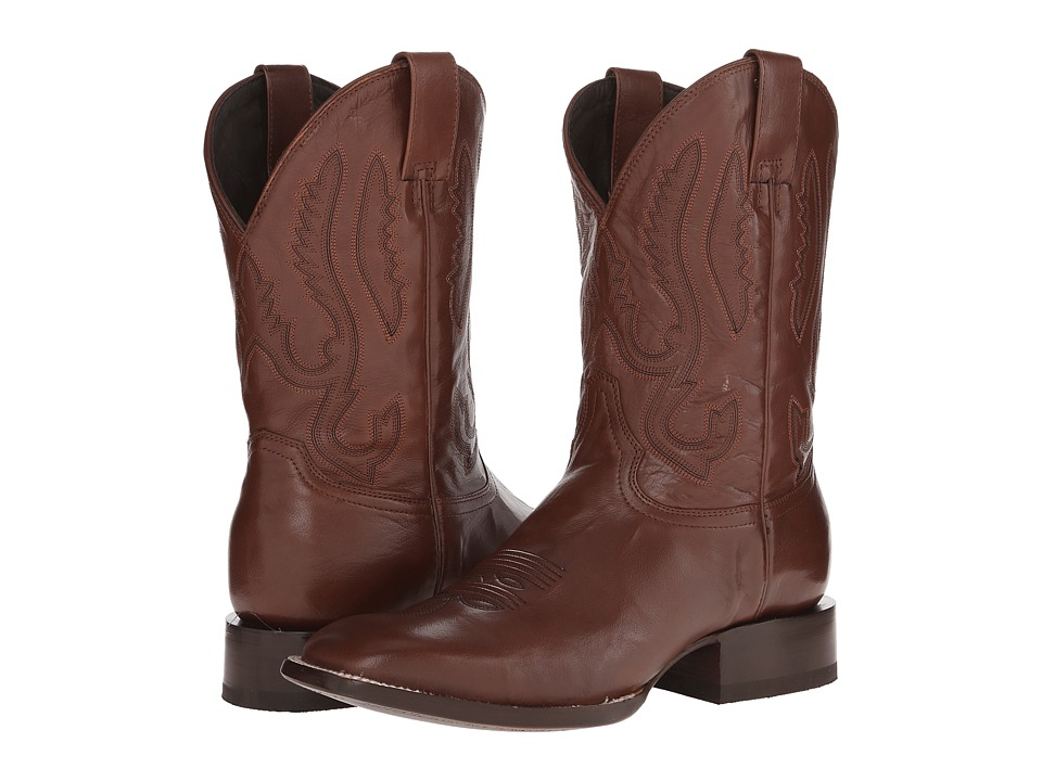 Stetson JBS Handmade 11 Calvary Sq Toe Dbl Welt (Whiskey Brown) Cowboy Boots