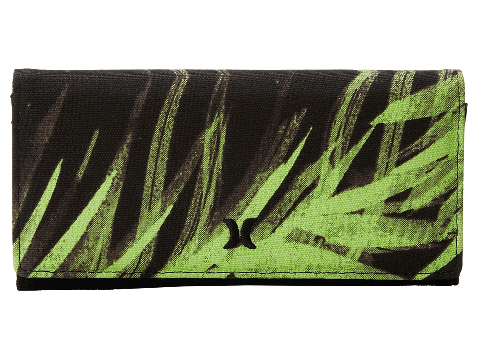 Hurley - Tomboy Wallet (Flash Lime Palm) Wallet Handbags
