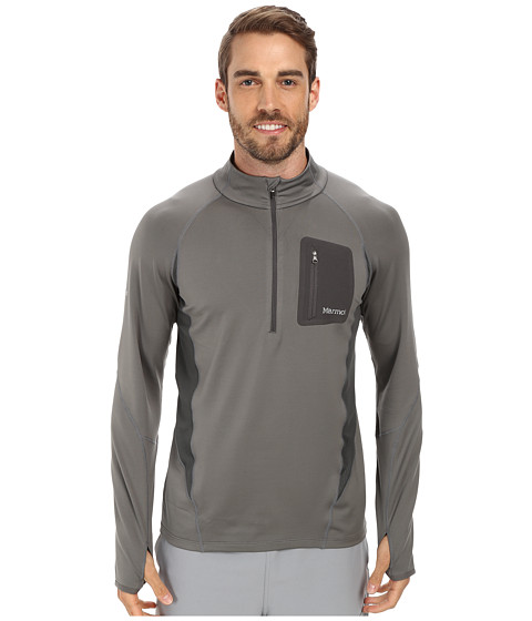 Marmot - Elance 1/2 Zip L/S (Cinder) Men's Long Sleeve Pullover