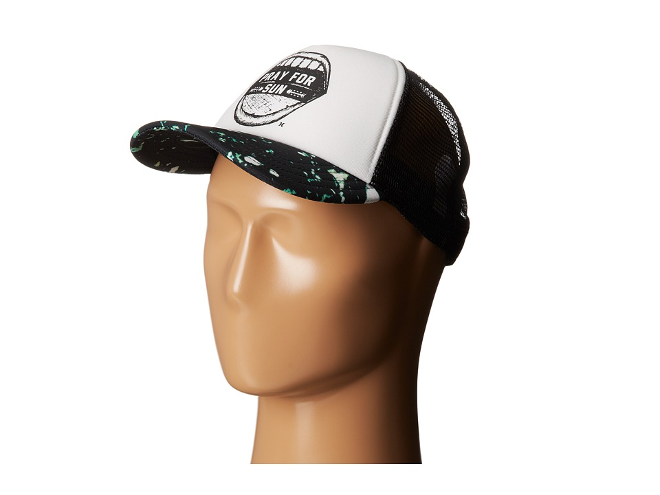 Hurley - Printed Trucker Hat (Black) Caps