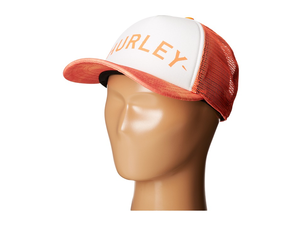 Hurley - Printed Trucker Hat (Peach Cream) Caps