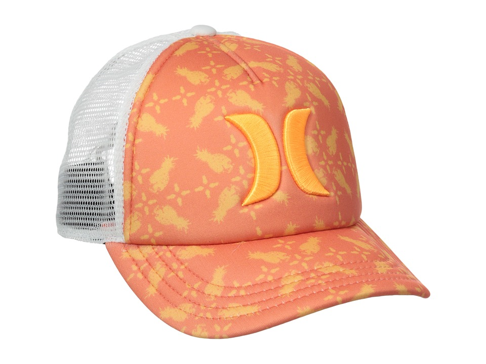 Hurley - One Only Trucker Hat (Lava Glow Pineapple) Caps