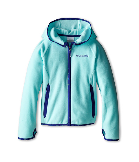Columbia Kids - Fast Trek Hoodie (Little Kids/Big Kids) (Candy Mint/Light Grape Print) Girl