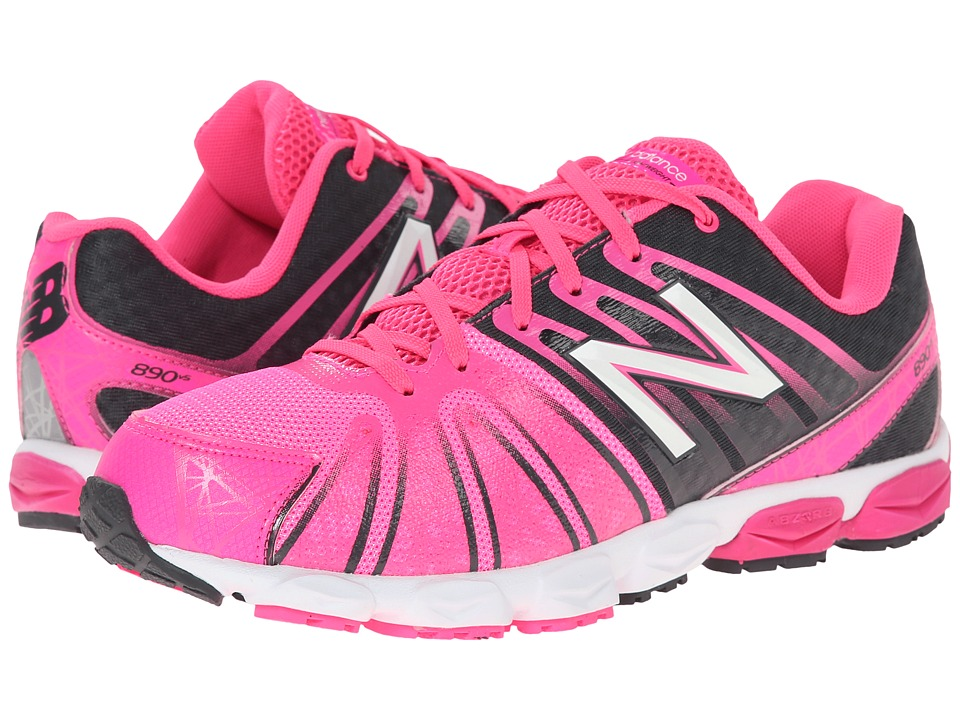 New Balance Kids - 890v5 (Big Kid) (Pink/Black) Girls Shoes
