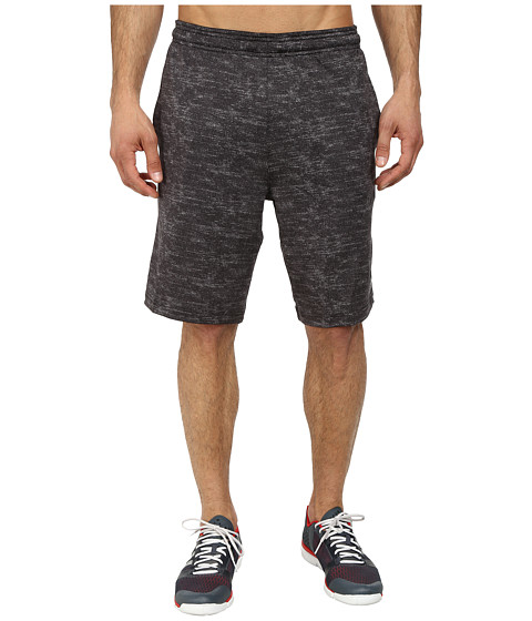 adidas - Team Issue Fitted Short (Black Heather/Black) Men's Shorts