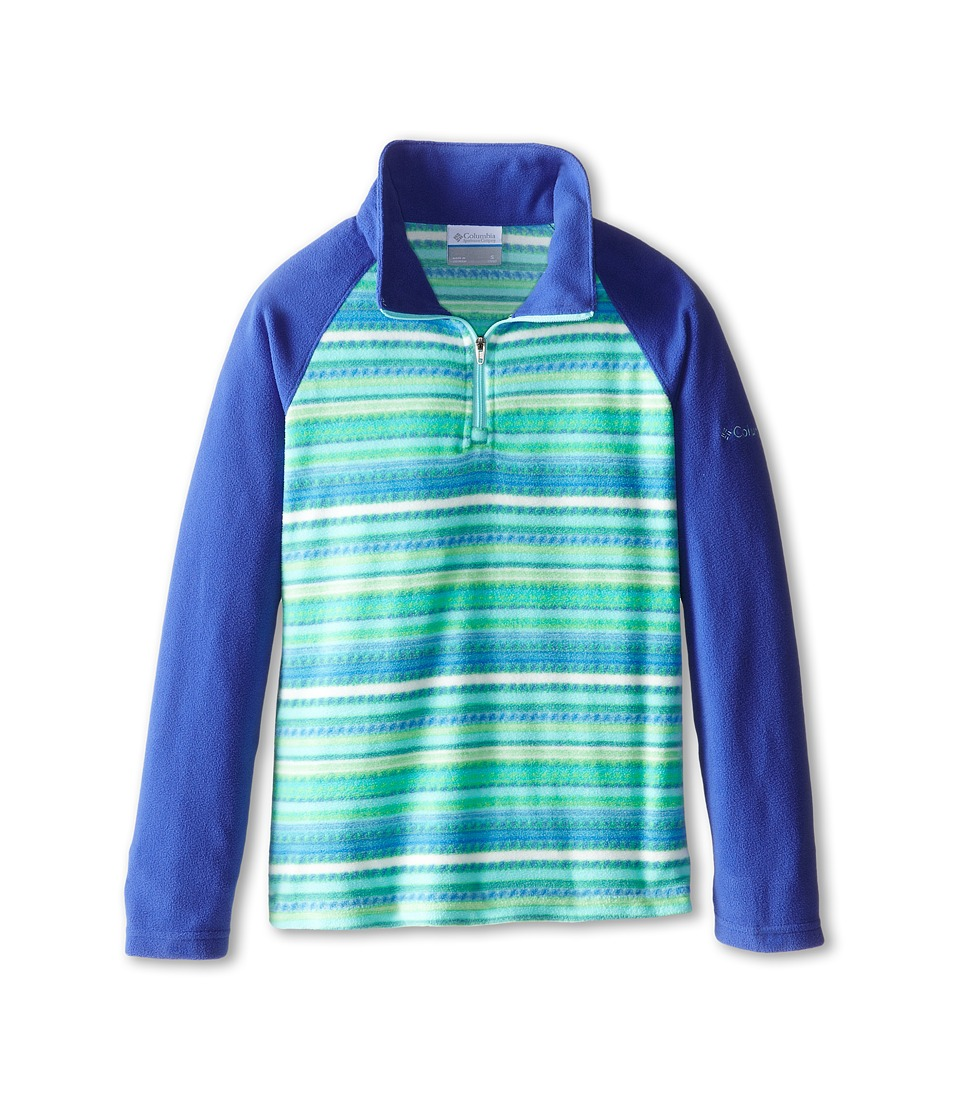 Columbia Kids - Glacial II Fleece Print Half Zip (Little Kids/Big Kids) (Light Grape Stripe/Light Grape) Girl