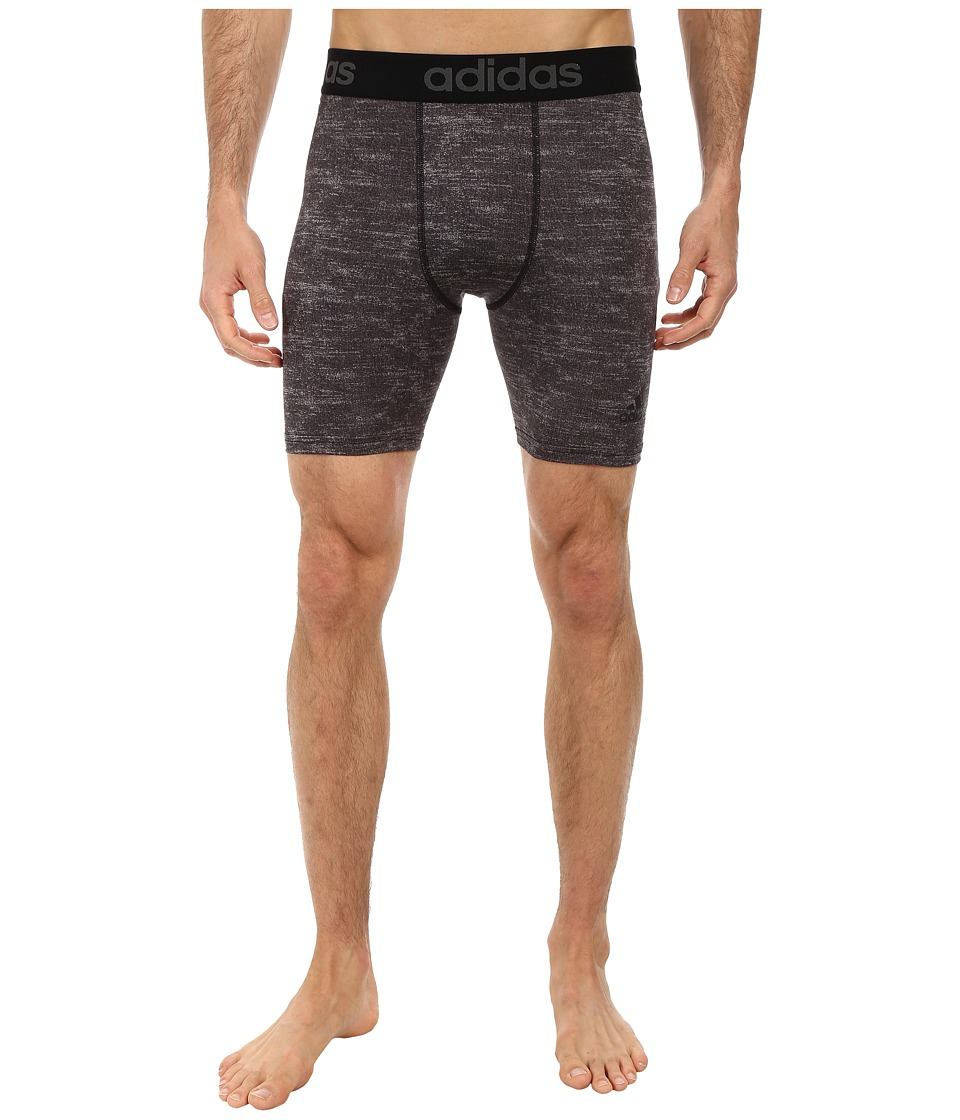 adidas - Team Issue Compression Short Tight (Black Heather) Men's Shorts