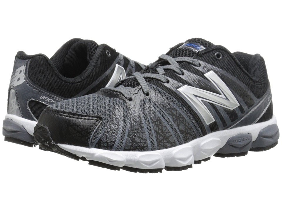 New Balance Kids - 890v5 (Big Kid) (Black/White) Boys Shoes