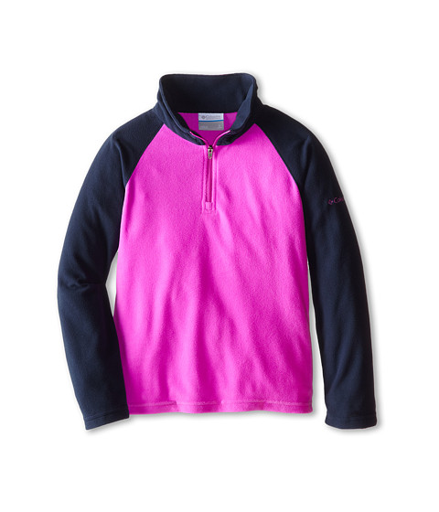 Columbia Kids - Glacial Fleece Half Zip (Little Kids/Big Kids) (Foxglove/Collegiate Navy) Girl
