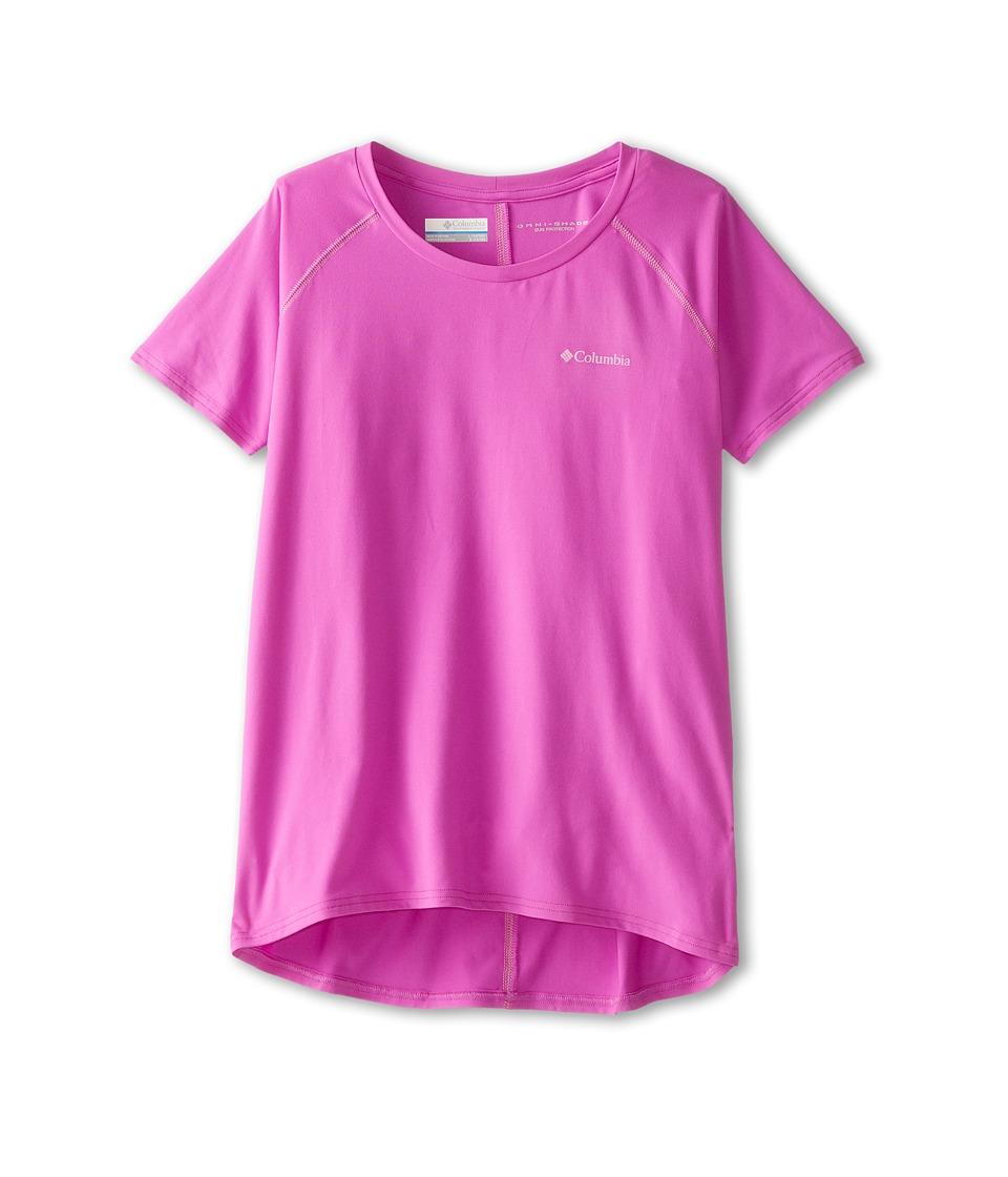 Columbia Kids - Silver Ridge Short Sleeve Tee (Little Kids/Big Kids) (Foxglove/Orchid) Girl's T Shirt