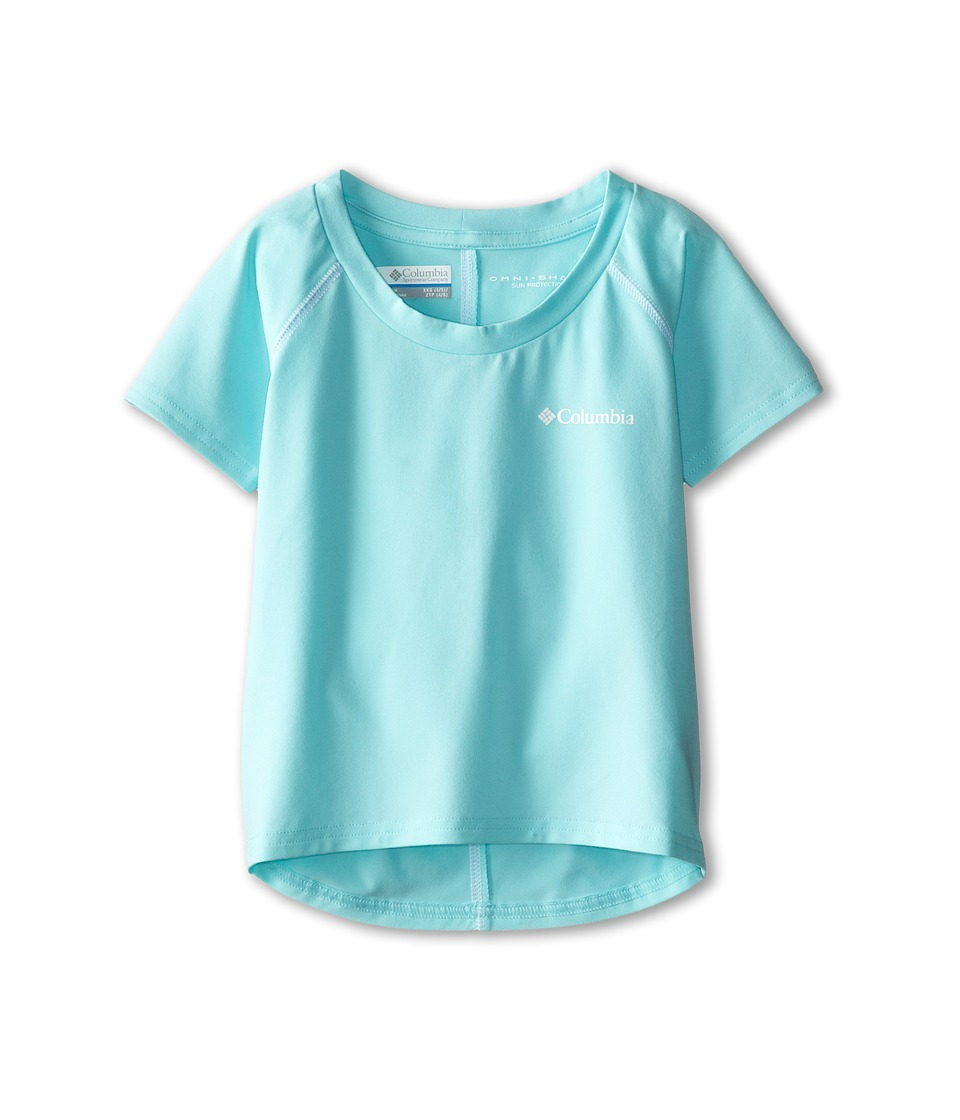 Columbia Kids - Silver Ridge Short Sleeve Tee (Little Kids/Big Kids) (Candy Mint/White) Girl