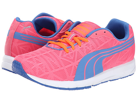 Puma Kids - Narita V2 Jr (Little Kid/Big Kid) (Fluorescent Pink/Strong Blue) Girls Shoes
