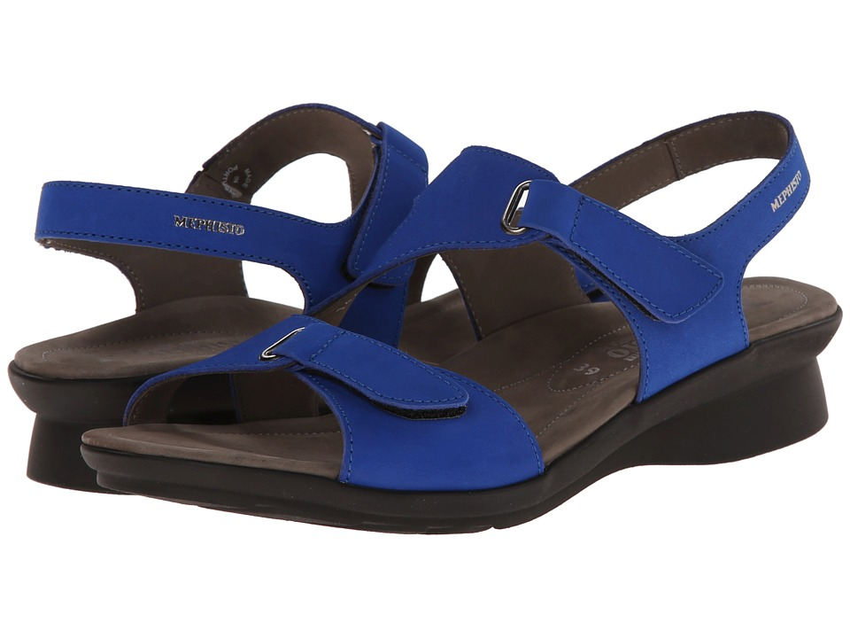 Mephisto - Paris (Cobalt Blue Bucksoft) Women's Sandals