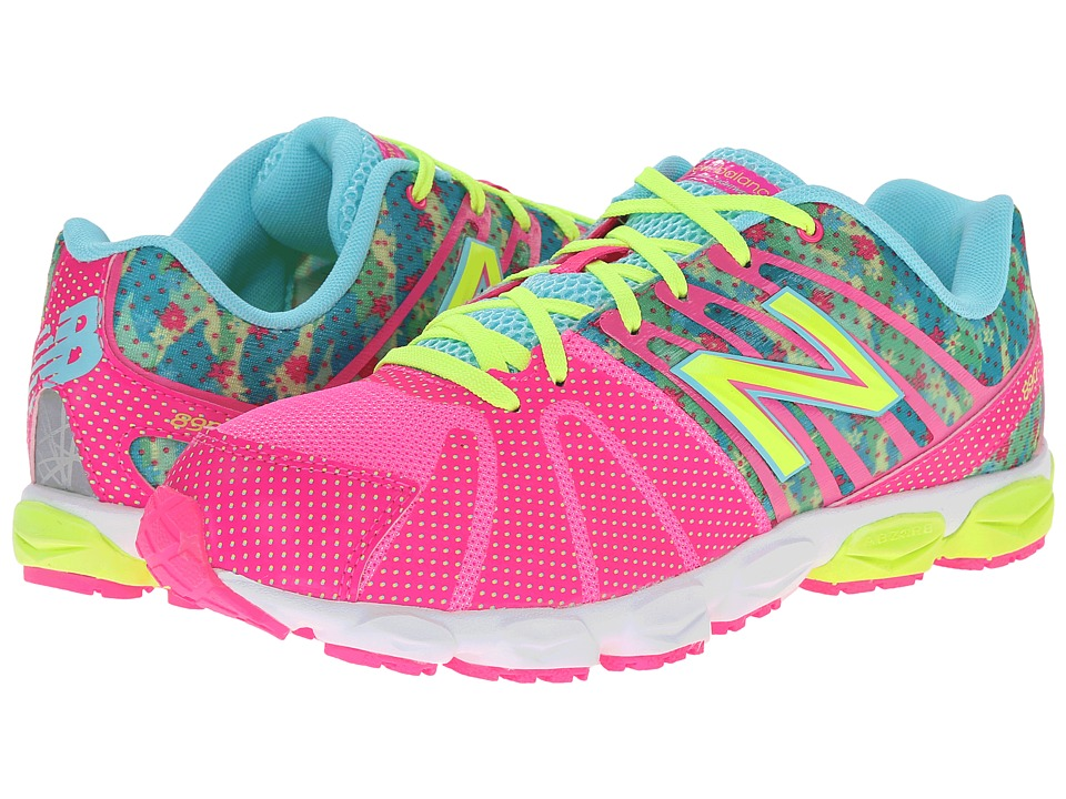 New Balance Kids - 890v5 (Big Kid) (Green/Pink) Girls Shoes