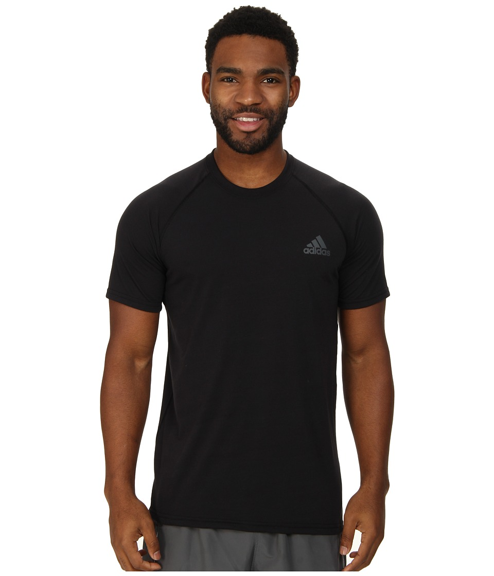 adidas - Ultimate S/S Crew Tee (Black/DGH Solid Grey) Men's T Shirt