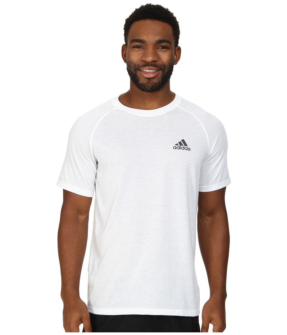 adidas - Ultimate S/S Crew Tee (White/DGH Solid Grey) Men's T Shirt
